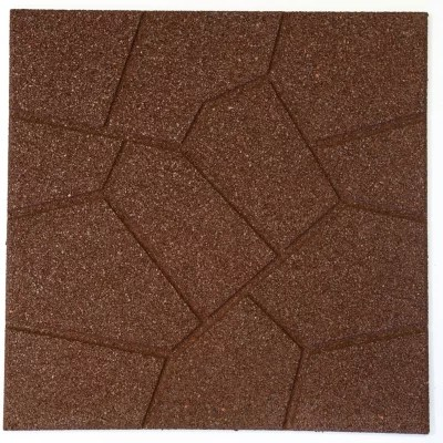 18 x 18 rubber reversible brickface paver red