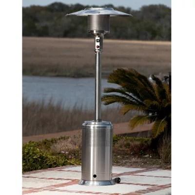 fire sense stainless steel pro series patio heater