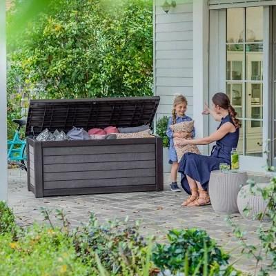 keter 165 gallon resin outdoor deck box