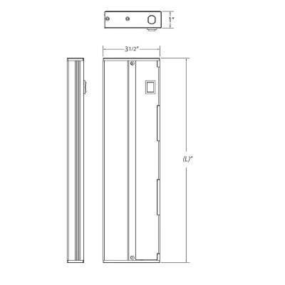 nicor slim nickel dimmable led under cabinet lighting fixture