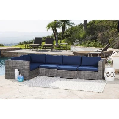 francisco outdoor wicker modular patio sectional various colors
