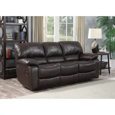 redfield leather reclining sofa