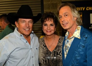 George Strait and Jim Lauderdale with Nancy (Mrs. George) Jones. Courtesy photo