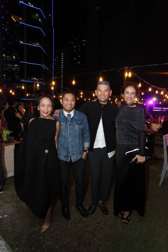 (From L-R) Gigi Mabanta, Head of Buying, ZALORA Philippines; Christopher Daguimol, Regional PR Director, ZALORA Philippines; Robby Carmona, Chairman of SAGA Events; Rayne Reid, Head of Regional Private Labels, ZALORA Philippines