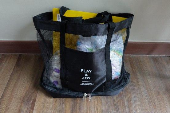 Labor Bag (Mesh travel bag from @kissmegoodbyeph)