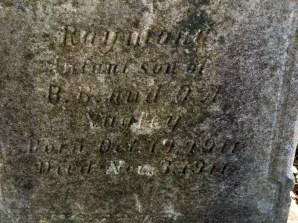 Raymond Infant Son 10.19 to 11.3 1911