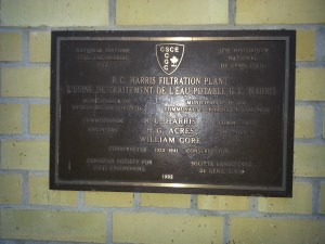 34. R.C. Harris Water Treatment Plant plaque