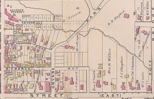 Goads Atlas 1884, Yorkville east of Yonge