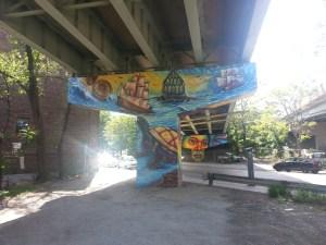 28. King Street East underpass art