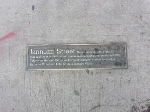 Iannuzi Street plaque