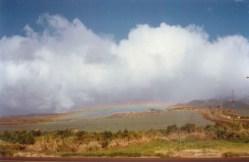 Rainbows galore across Maui countryside