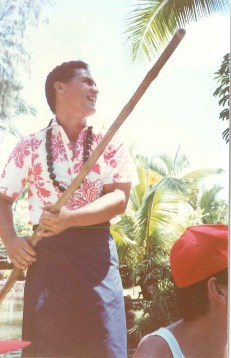 tour guide a Polynesian Cultural Center on Oahu