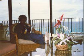 Atop 14th floor suite of Sheraton Grande Hotel, Nassau, Bahamas Feb 1988