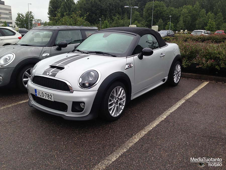 Mini Roadster parked