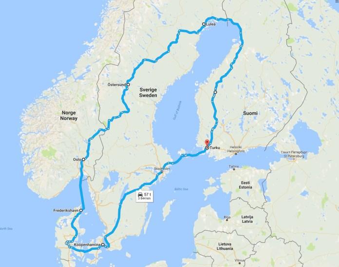 road trip skandinaavian ympäri