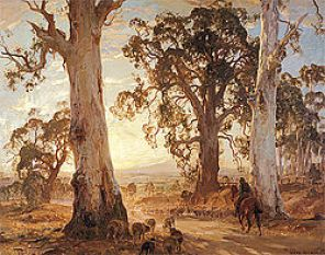 Heysen_Droving in the light