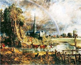 John Constable Salisbury Cathedral From the Meadows 1831 psC