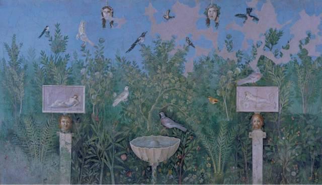 Fresco from the House of the Golden Bracelet, Pompeii