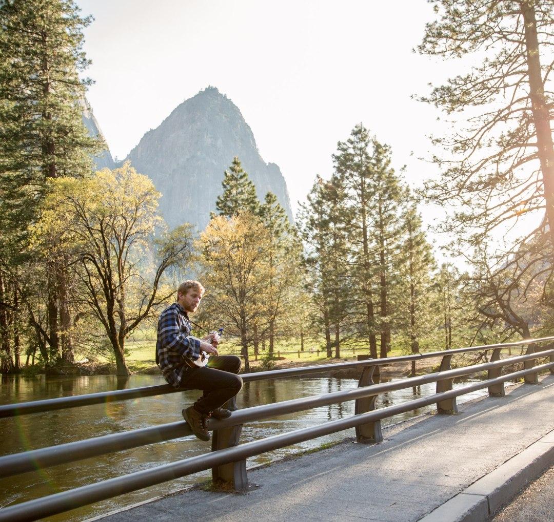 Perfect serenade for a dreamy elopement- El Cap bridge, Yosemite National Park