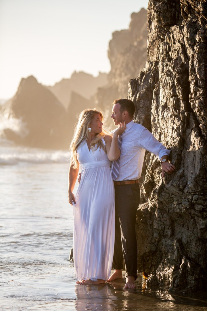 These lovebirds found a super awesome beach and some solitude for their Big Sur Elopement.