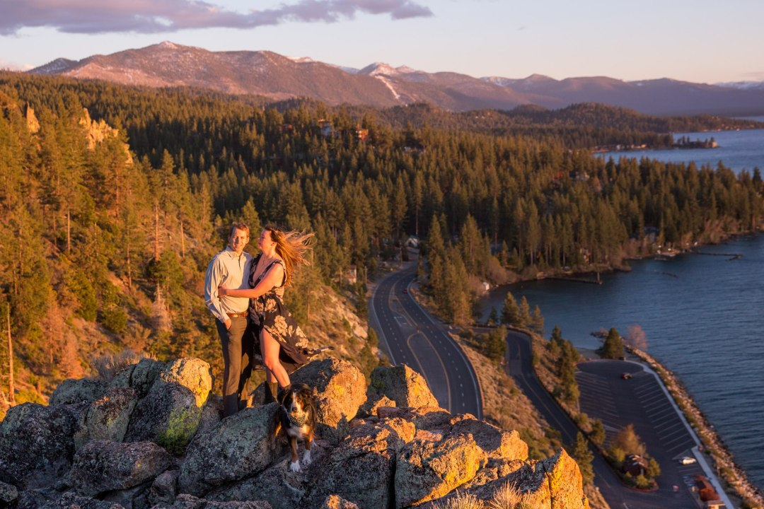 Tahoe Elopement during sunset