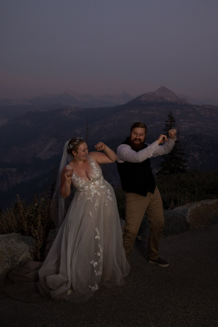 First dance to celebrate another Yosemite adventure wedding in the books!