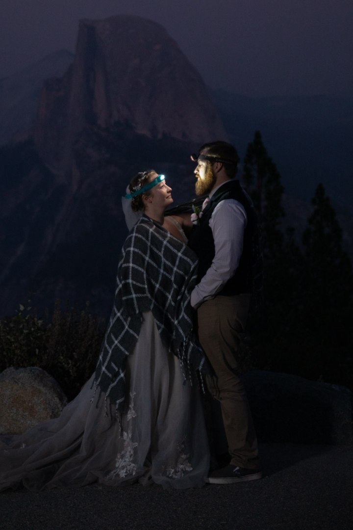 Headlamps and Halfdome, these newlyweds celebrate their life together!