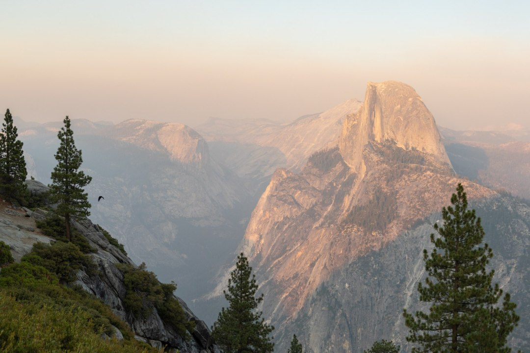 Smokey sunset at Glacier Point, perfect place for a Yosemite elopement.