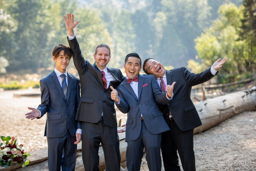 All guys wanted a fun pic too! This was a great Yosemite Elopement, and showed that family can indeed be part of your big day!
