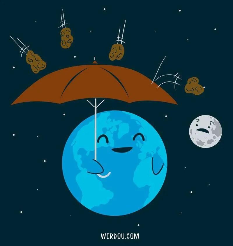 tierra, ciencia, divertido, gracioso, universo, lluvia, meteoritos, astronomía, universo