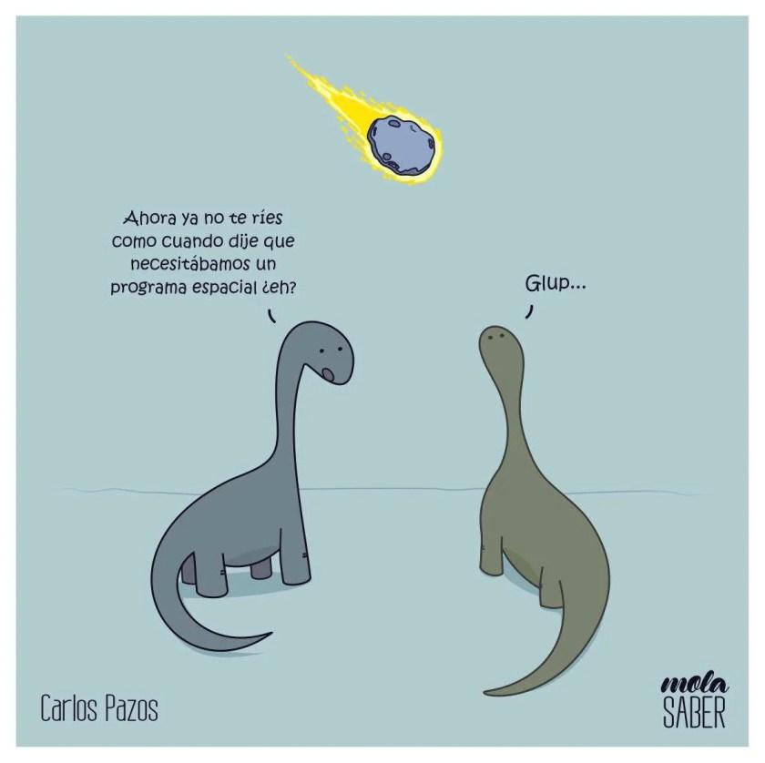 chiste sobre meteoro y dinosaurios Molasaber