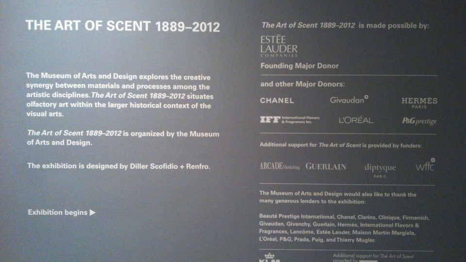 "Scent Culture Club: ""The Art of Scent"" vs. ""The Scent of Art"""