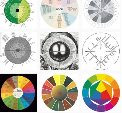 Fragrance wheel, aroma wheel, fragrances of the world