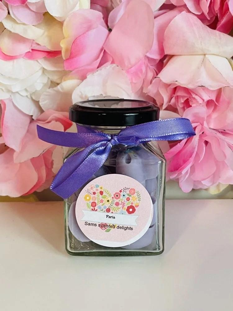 Heart Jar Purple Wax Melts