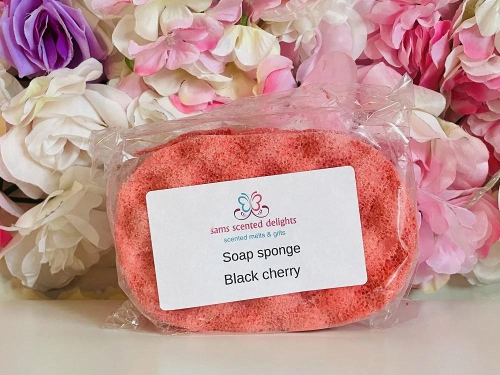 Red Black Cherry Soap Sponge