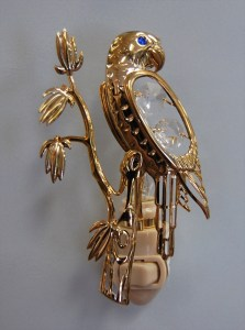 Gold Parrot Night Light