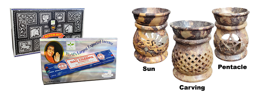 NEW! Incense and oil burners!