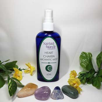 Heart Chakra Aromatic Mist, cleanse and balance your heart chakra, essential oils for heart chakra