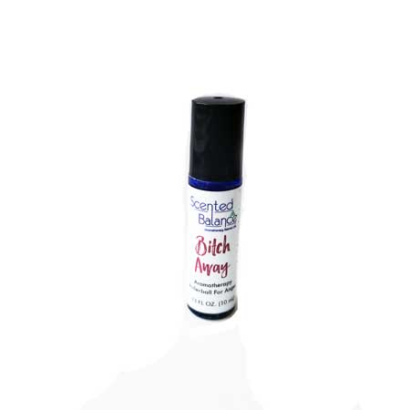 Bitch Away Aromatherapy Rollerball, hot temper. menopause emotions, anger management