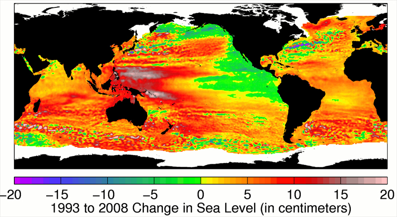 Change in Sea Level, 1993-2008