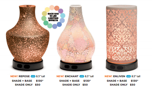 new scentsy individual diffuser shades