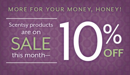 scentsy 10 percent off sale february 2017