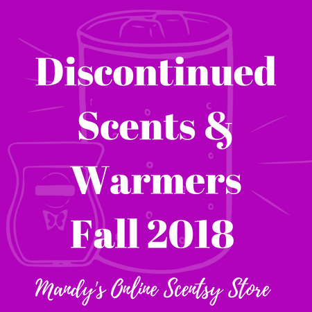 Scentsy Discontinued Scents Warmers Fall 2018