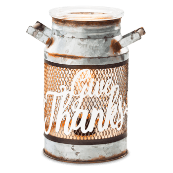 Give Thanks Milk Can Warmer
