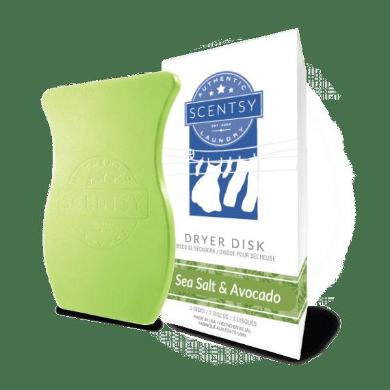 scentsy dryer disks sea salt avocado