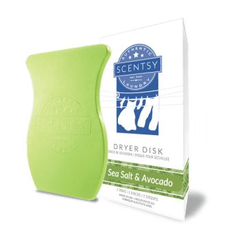 scentsy dryer disks sea salt avocado