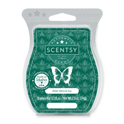 aloe water and ivy scentsy wax bar