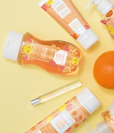 Photo of scentsy body products in scent Sunkissed Citrus