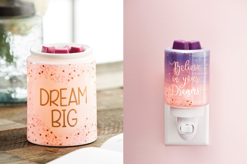 photo of Scentsys dream sparkle and Believe in your dreams mini warmers