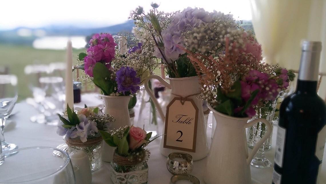 marquee wedding flowers